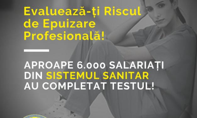 """""""Solidaritatea Sanitară"""" a lansat prima aplicație de evaluare gratuită a riscului de epuizare profesională"""